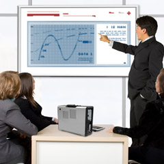 High-performance, portable computers for on-site customer demonstrations and off site training