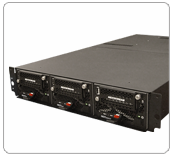 Small footprint rackmount mass storage