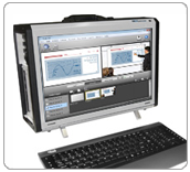 Portable workstations for corporate webcasting