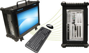 ruggedized portable workstations with PCI expansion